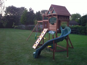 an all in one play system to be used in the safety of your own garden