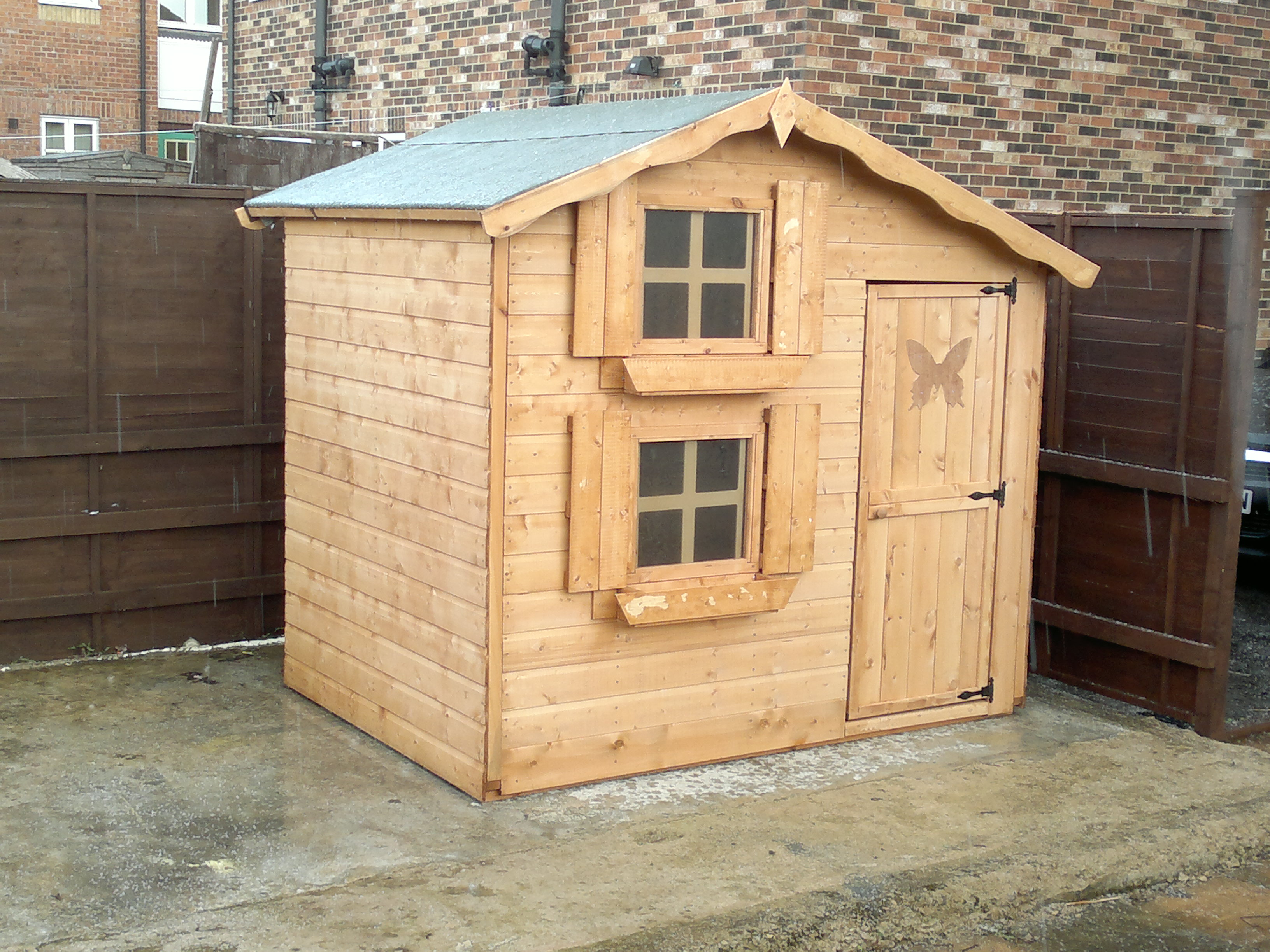 Wooden Playhouse Supplied By Tesco Climbing Frame Installer