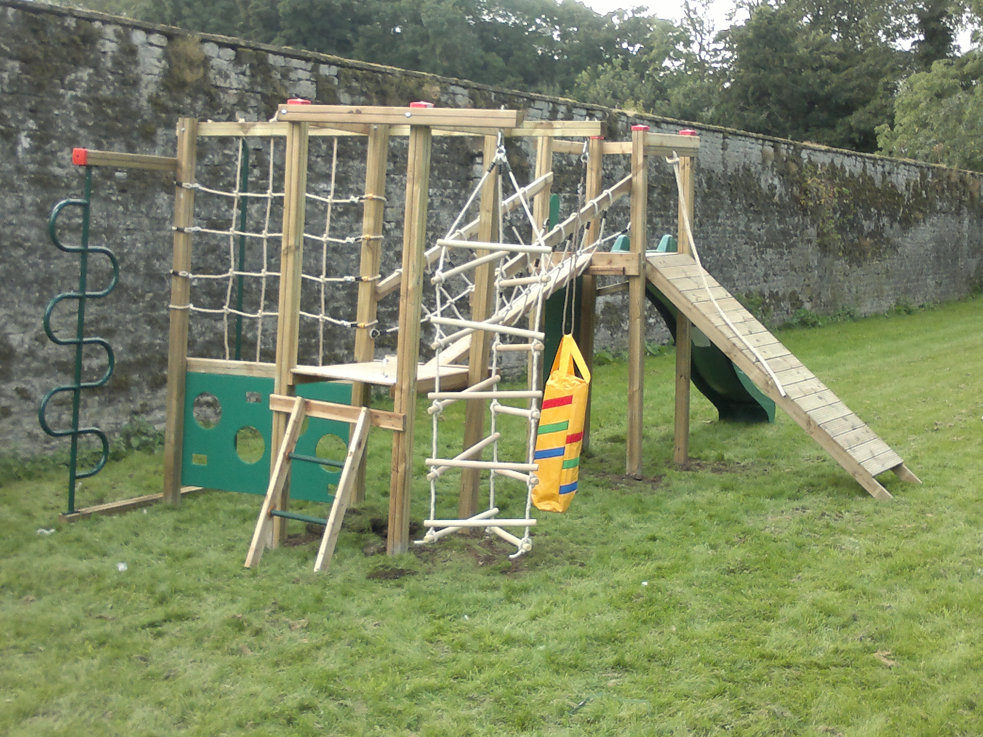 Play Frames Uk action ramparts climbing frame installation - climbing frame installer