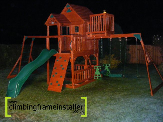 Selwood Products Sky Fort Installation Climbing Frame