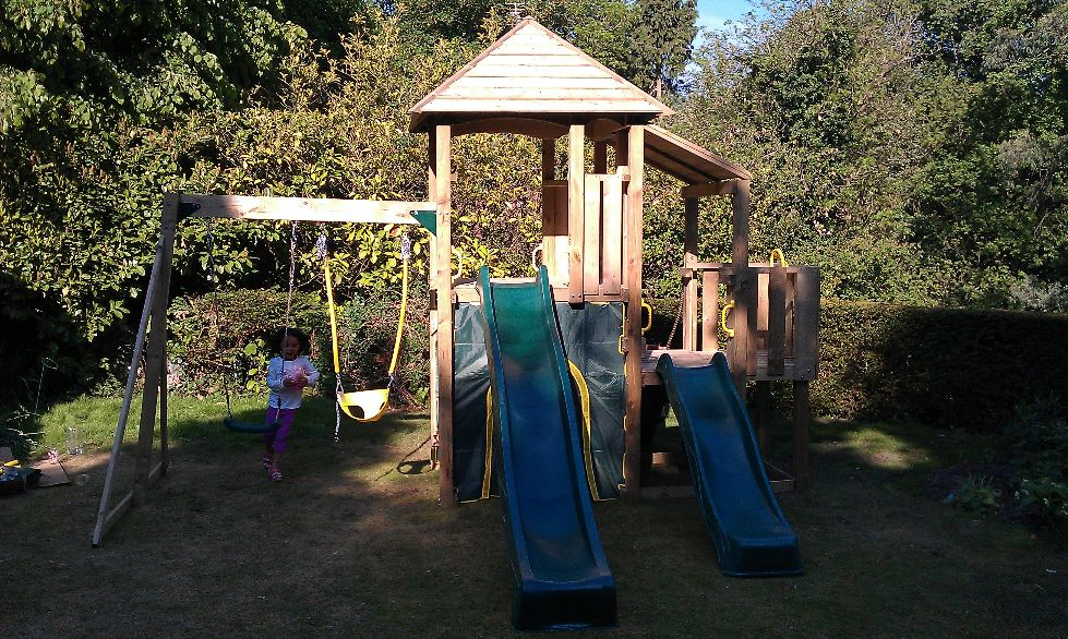 The Plum Bison Wooden Play Centre - Climbing Frame Installer