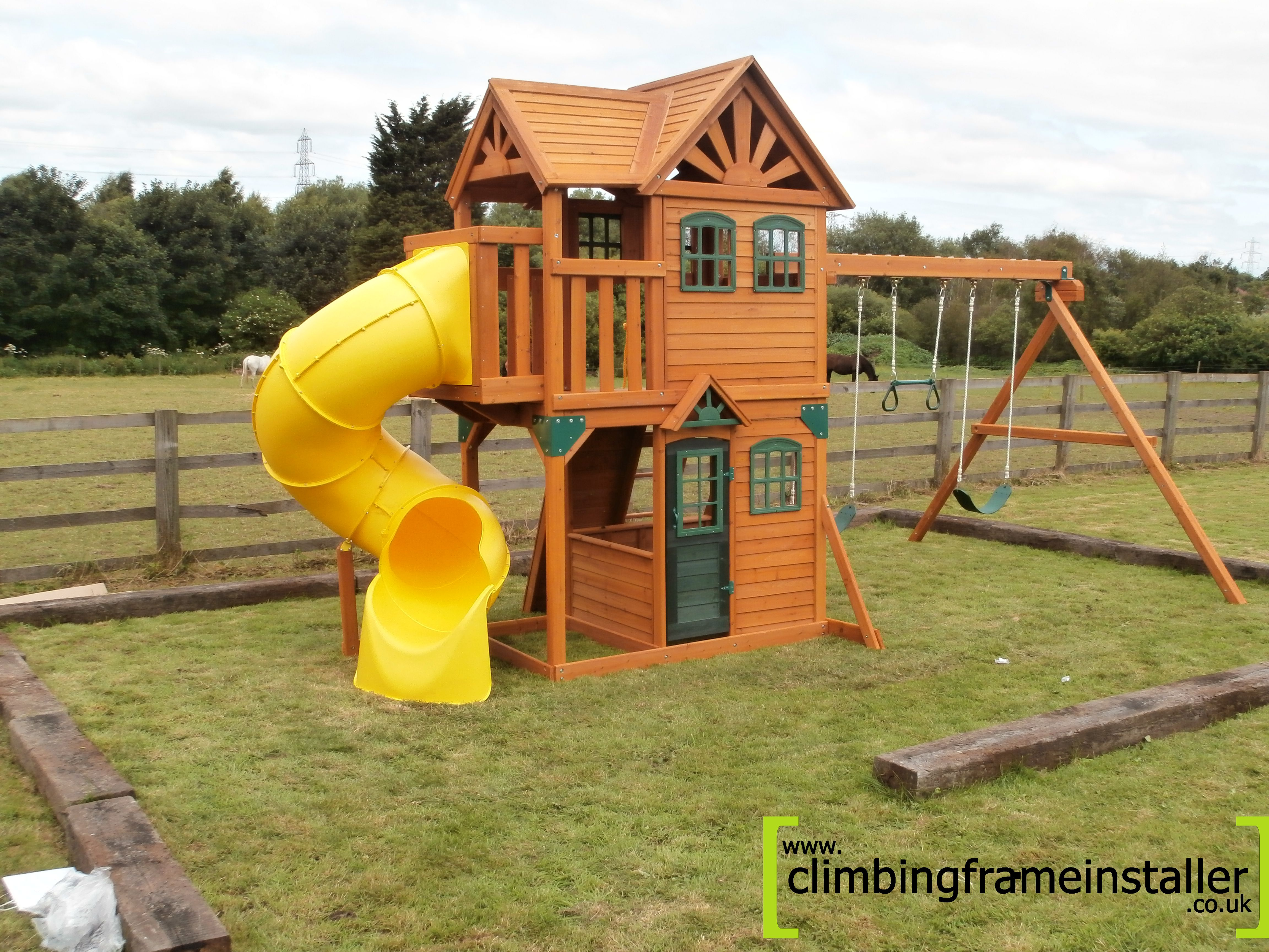 The Costco Cedar Summit Climbing Frame Climbing Frame