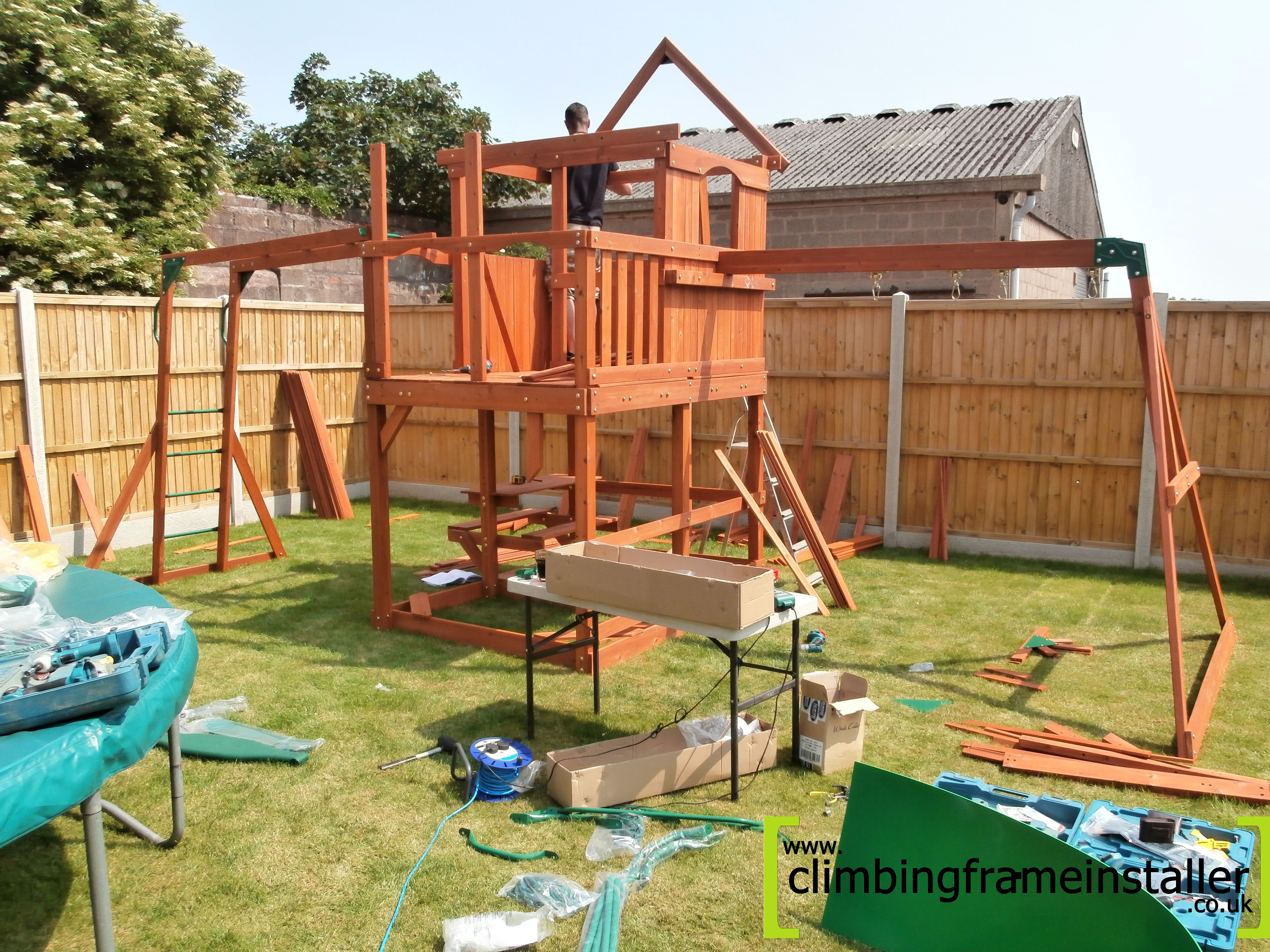 the skyfort cedar wooden climbing frame climbing frame. Black Bedroom Furniture Sets. Home Design Ideas