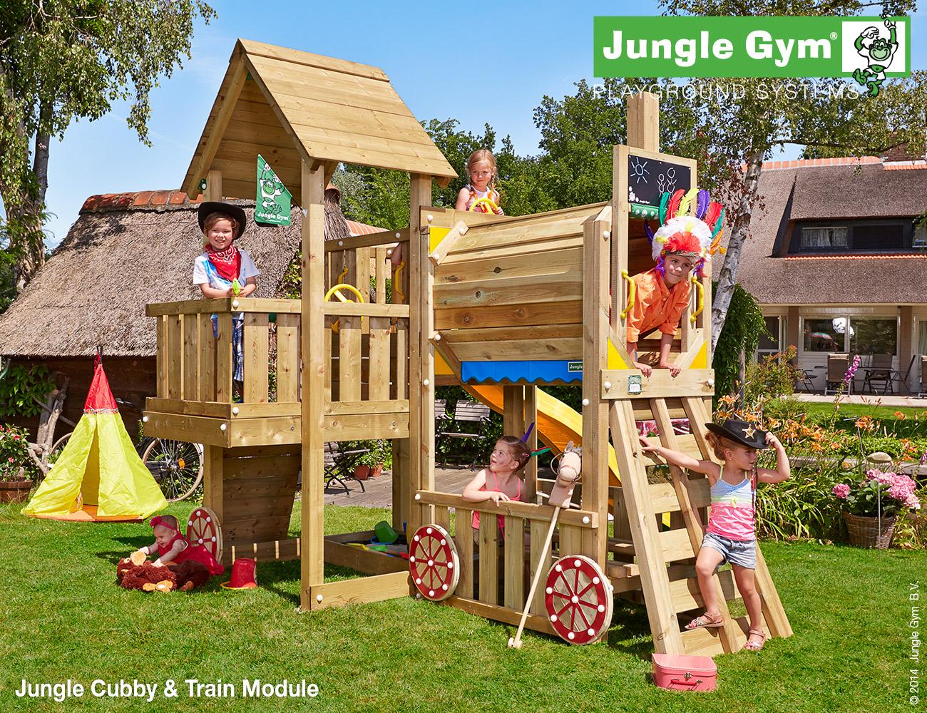The Jungle Gym \'Cubby Train\' Climbing Frame - Climbing Frame Installer