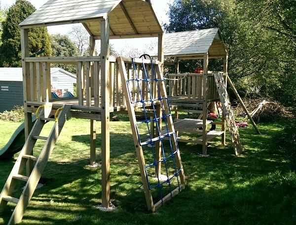 The Baloo Double Tower Climbing Frame from Play Crazy - Climbing ...