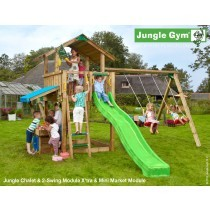 the chalet mini market 2 swing jungle gym climbing frame climbing frame installer. Black Bedroom Furniture Sets. Home Design Ideas