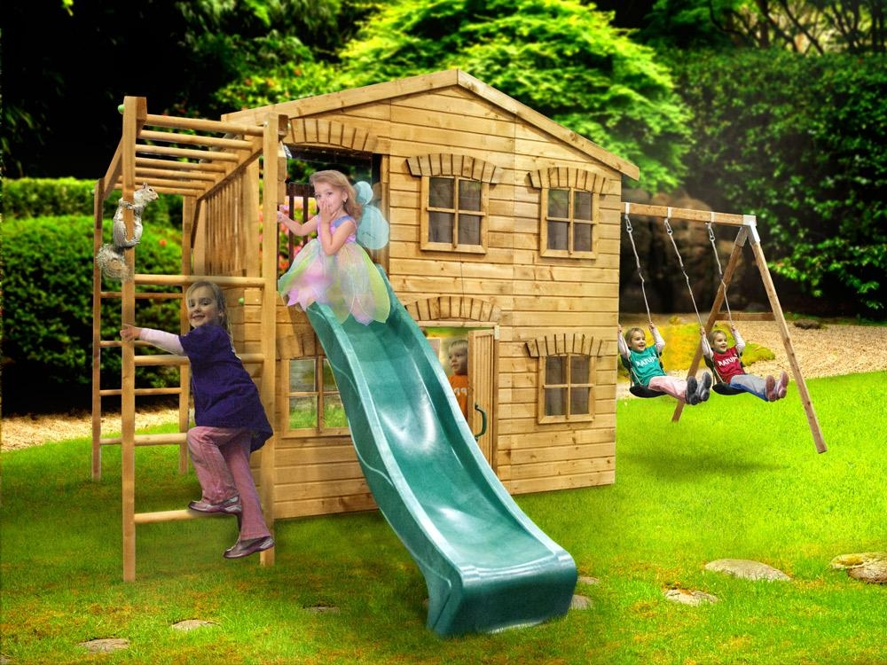The Dunster House PlayHouse Mansion Climbing Frame - Climbing Frame ...