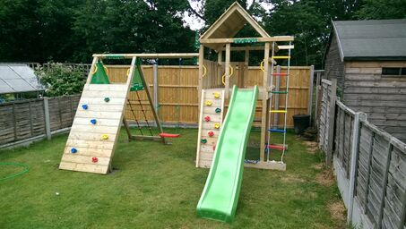 The Jungle Gym Lodge Climb X Tra Climbing Frame Climbing