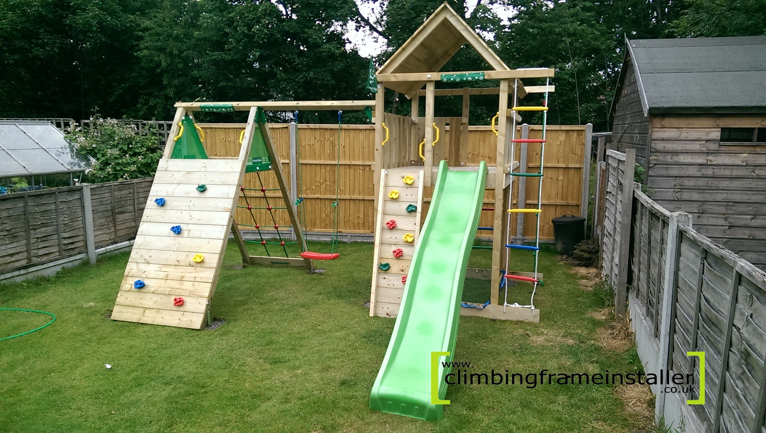 Jungle Gym Lodge Climb X 39 Tra Climbing Frame