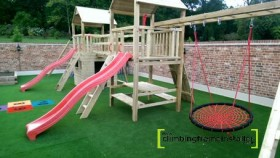 Crows Nest Swing Childrens Climbing Frame