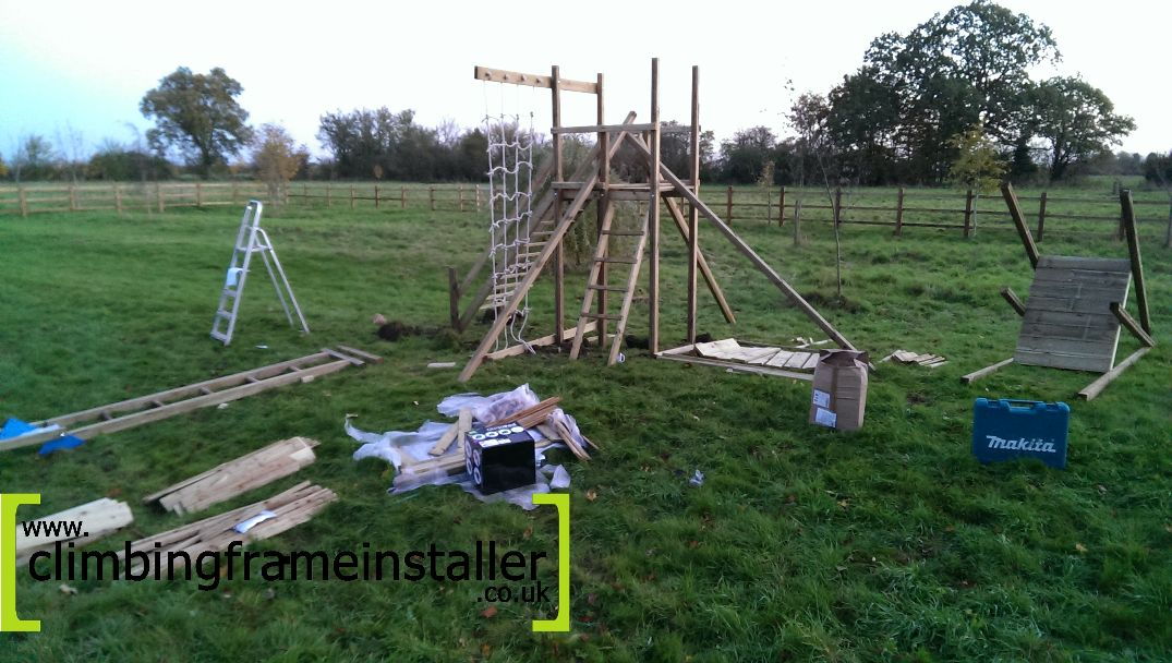 The Action Monmouth Twin Towers Climbing Frame