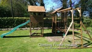 Dunster House Mega Fort Mountain Climbing Frame Installer