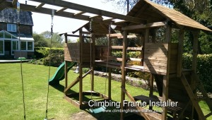 Dunster House MegaFort Mountain Climbing Frame Installation
