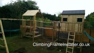 Climbing Frame NI Installation England Play Builder