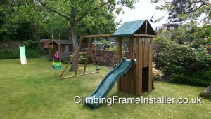 QuestFort Triumph Dunster House NOT Selwood Plum Climbing frame