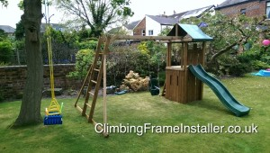 QuestFort Triumph Dunster House Climbing Frame Installation