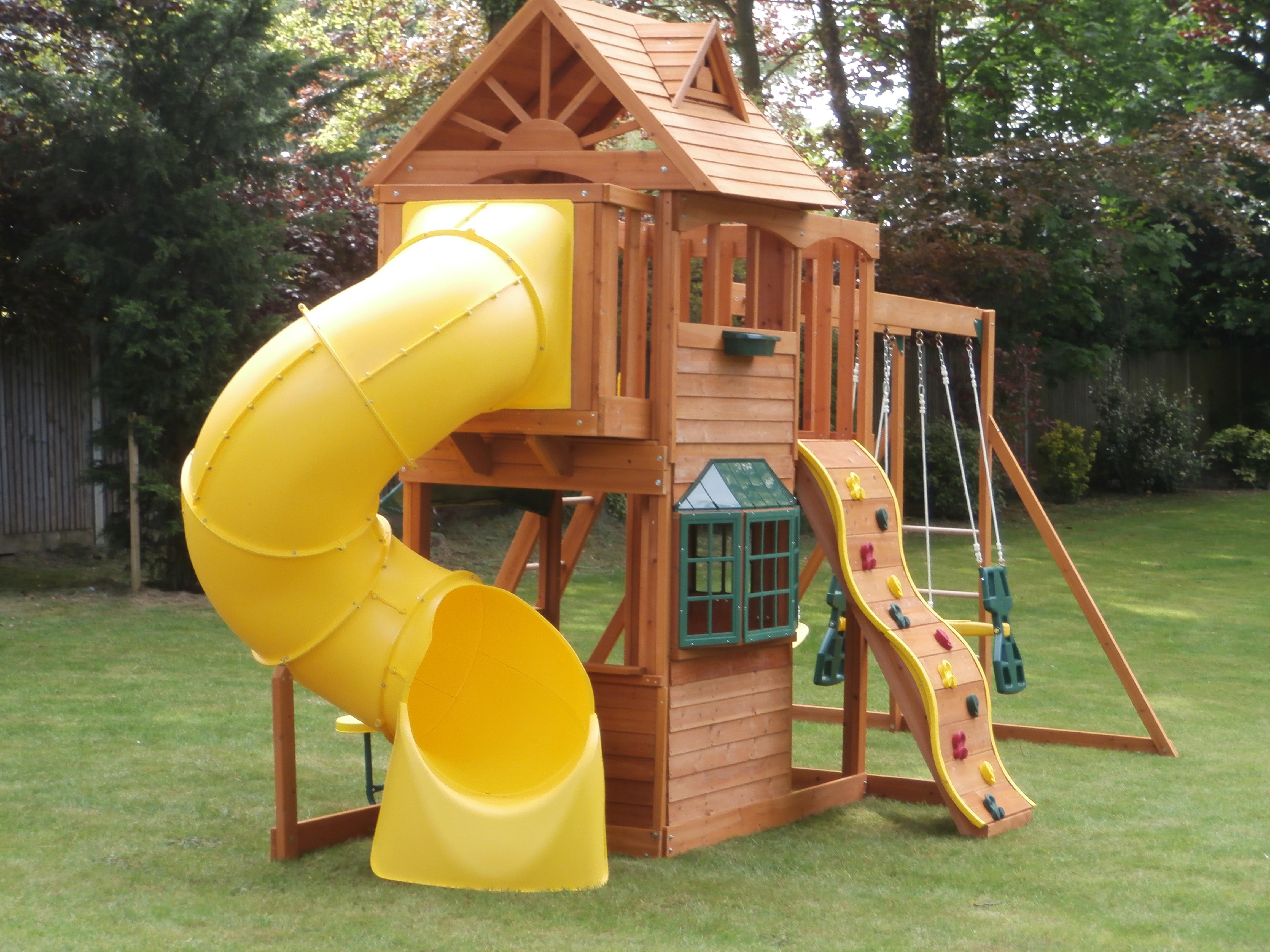 kids climbing frame with slide | Kids