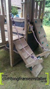 Plum Products, Bison Playset Climbing Frame Installer