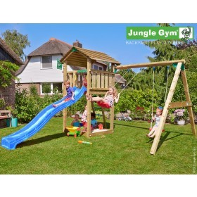 The Jungle Gym Cottage 2-Swing X'tra Climbing Frame