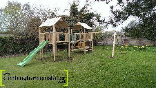 Play Crazy Bespoke Double Tower Climbing Frame